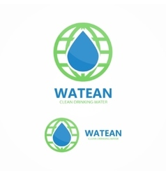 logo combination of water and earth vector image