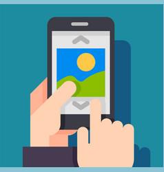 multimedia photo album app concept vector image