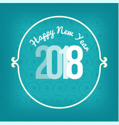 new year card white typography over blue vector image