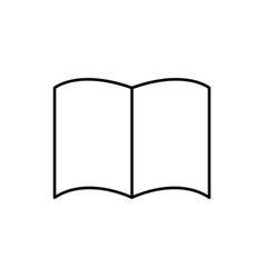 opened linear book icon vector image