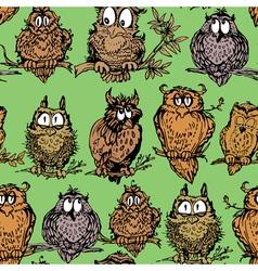 owl seamless 1 380 vector image