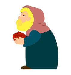 Persian king melchior icon cartoon style vector