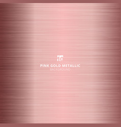 pink gold metallic metal polished background and vector image