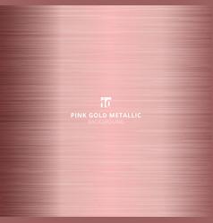 Pink gold metallic metal polished background vector