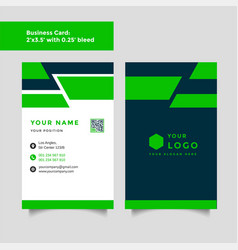 professional creative business card template vector image
