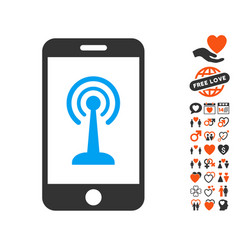 Radio control smartphone icon with lovely bonus vector