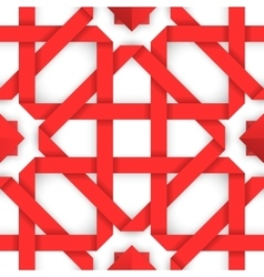 Red interwoven ribbons Seamless pattern vector image