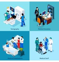 Relationship Between Doctor And Patient Icon Set vector