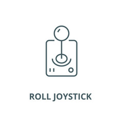 roll joystick line icon linear concept vector image