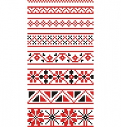 Russian national ornaments vector
