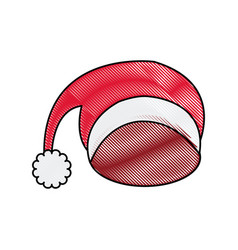Santa red hat celebration decoration icon vector
