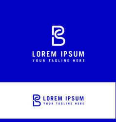 Sb logo design - line art logo design concept vector