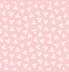 seamless hipster geometric pattern pinwheel blush vector image