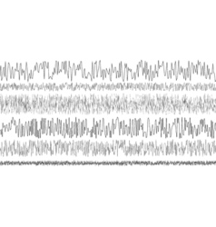 Set seismic waves oscillation earthquake vector