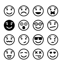 Smiley faces ns set vector image