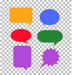 speech bubbles icon on transparent colorful set vector image