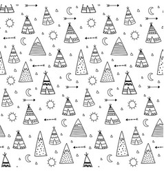 teepees main vector image