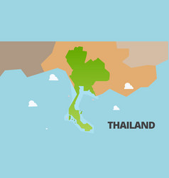 thailand green map is fully vector image