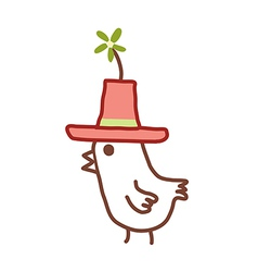 The hat with chick vector