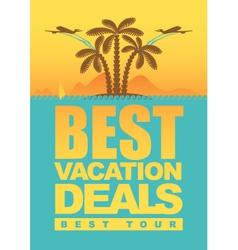 Vacation deals vector