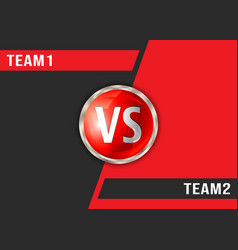 versus red and black background vs screen display vector image