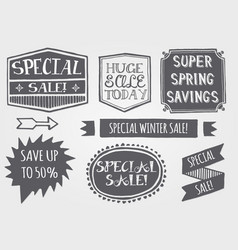 vintage sales label set vector image