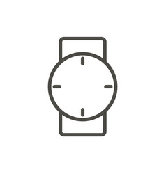 watch icon line hand clock symbol vector image