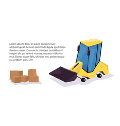yellow loader funny cartoon style vector image