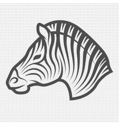 Zebra symbol logo emblem vector