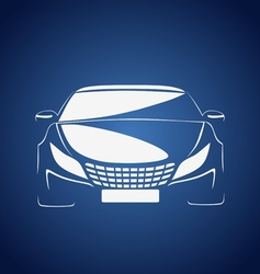 Auto in blue vector image