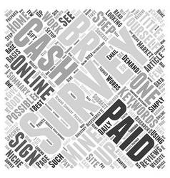 Cash Only Survey Word Cloud Concept vector image