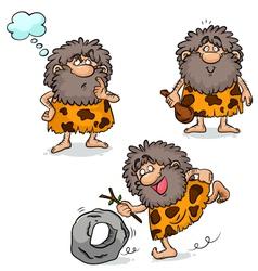 cavemen vector image vector image