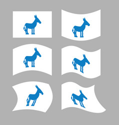 donkey flag democrat national flag of vector image