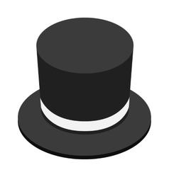 Magic black hat isometric 3d icon vector image vector image
