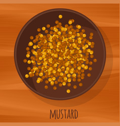 mustard seeds flat design icon vector image vector image