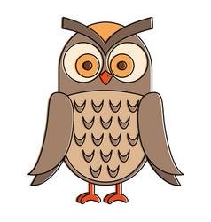 owl bird isolated icon vector image vector image