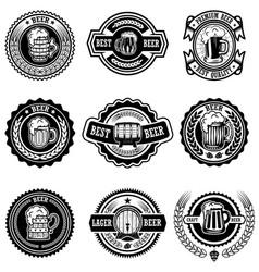 set of vintage beer labels design elements for vector image vector image