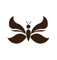 butterfly wings decoration element emblem vector image