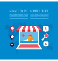 Buying travel tickets online Cruise trip booking vector image