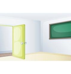 Empty classroom vector image