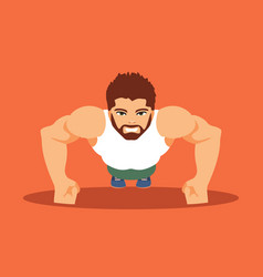 male bodybuilder vector image vector image