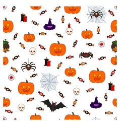 pattern halloween fourth vector image
