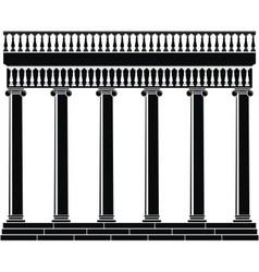 portico colonnade vector image vector image