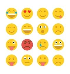 Set of Emoticons Emoji vector image vector image