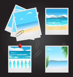 Set photo frames with beaches vector image vector image