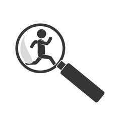 silhouette man criminal thief stealing isolated vector image