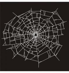 Spider web or broken glass vector