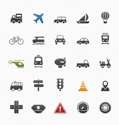 transport symbol icon set vector image vector image