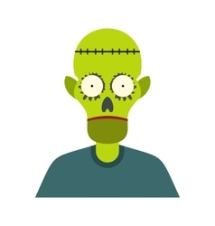 Zombie icon flat vector image vector image