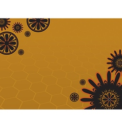 Background flower 3 yellow vector image
